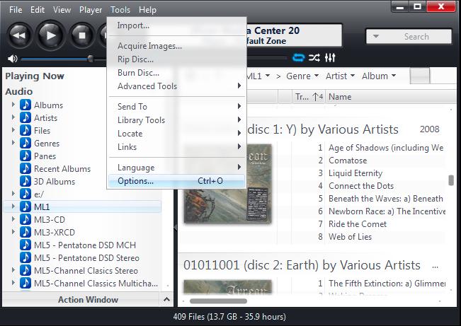 Configuring JRiver Media Center for Windows for Bitperfect